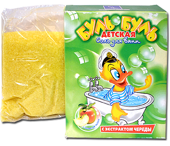 Фитосоль для ванн БУЛЬ-БУЛЬ Детская с чередой и ароматом ЯБЛОКА, 500г