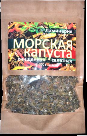 Фитолон Морская капуста ЛАМИНАРИЯ салатная очищенная, 100г