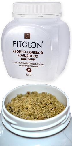 Фитолон Хвойно-солевой концентрат с экстрактами коры осины, ламинарии и хвои, 500мл