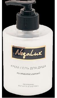НЕГА-ЛЮКС Гель для душа ПИТАТЕЛЬНЫЙ протеины йогурта и молока
