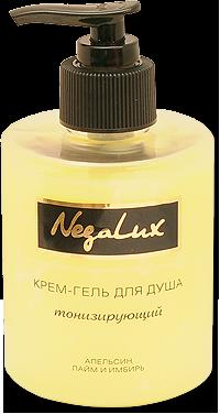 НЕГА-ЛЮКС Гель для душа ТОНИЗИРУЮЩИЙ с экстрактами апельсина, лайма и имбиря