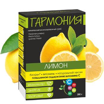 Натуральный витаминизированный напиток ГАРМОНИЯ Лимон (10пак.)
