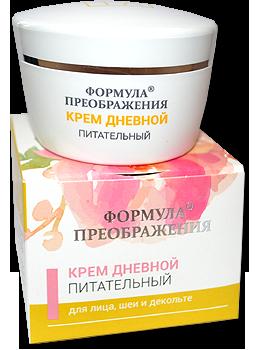 Формула Преображения Крем дневной ПИТАТЕЛЬНЫЙ с маслом зародышей пшеницы, какао и тапинамбуром, 50 мл