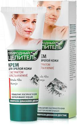 ПРИРОДНЫЙ ЦЕЛИТЕЛЬ Крем для зрелой кожи с экстрактом бересты и мумиё, 75мл