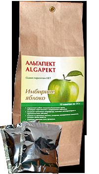 АЛЬГАПЕКТ - пектиновый кисель Имбирное яблоко УКРЕПЛЯЮЩИЙ