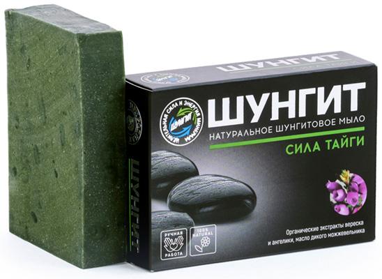 Мыло натуральное шунгитовое Сила Тайги с экстрактами трав, 100г