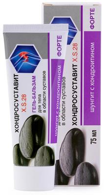 ШУНГИТ Гель-бальзам для суставов Хондросуставит с хондроитином и глюкозамином, 75мл