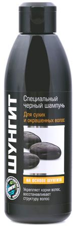 ШУНГИТ Специальный черный шампунь для сухих и окрашенных волос, 300мл