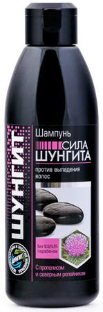 Шампунь СИЛА ШУНГИТА против выпадения с Прополисом и Репейником, 300мл