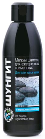 ШУНГИТ Мягкий шампунь для всех типов волос с морским коллагеном, 300мл