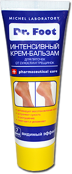 Dr. Foot Крем-бальзам интенсивный для пяточек от сухости и трещинок