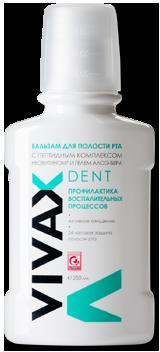 VIVAX Dent Бальзам для рта п/воспалительный с комплексом пептидов, Неовитином и Алоэ-Вера
