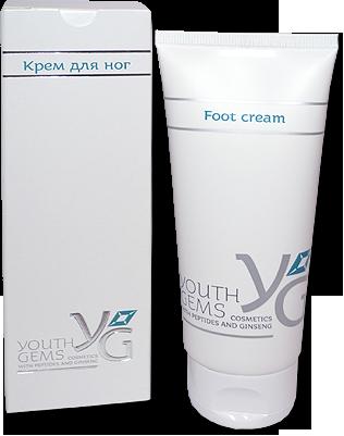 Youth Gems Крем для ног с пептидами и женьшенем, 100мл