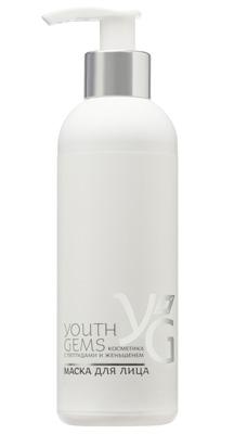 Маска для лица Youth Gems с пептидами и женьшенем, 200мл